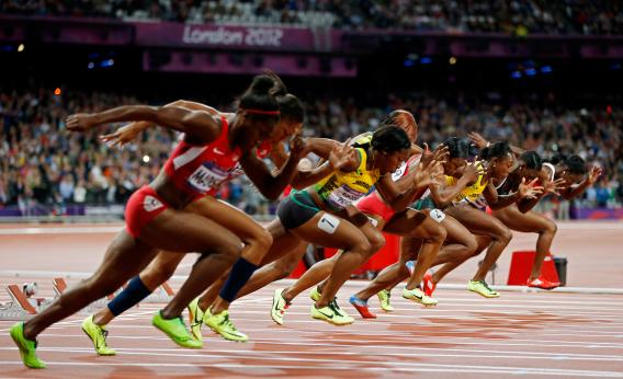 Sprinting and running