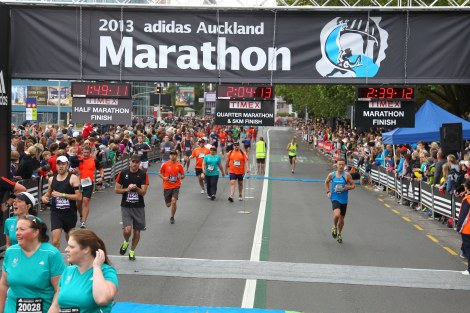 Auckland Marathon Finish