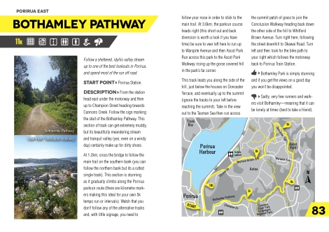 Runner's Guide to Wellington: Second Edition — Bothamley Pathway, Porirua