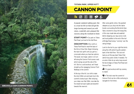 Runner's Guide to Wellington: Second Edition — Cannon Point, Upper Hutt