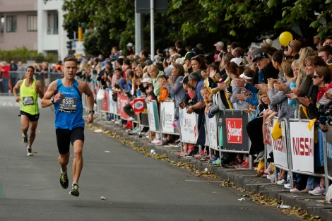 The crowd along the final straight was awesome!
