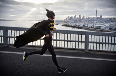 Batman conquers the Battle of the Bridge. Photo: Greg Bowker/NZ Herald. http://www.nzherald.co.nz/nz/news/article.cfm?c_id=1&objectid=11351999