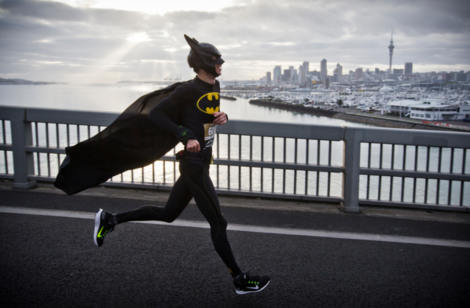 Batman conquers the Battle of the Bridge. Photo: Greg Bowker/NZ Herald. http://www.nzherald.co.nz/nz/news/article.cfm?c_id=1&objectid=11351999
